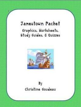 Jamestown Packet - Worksheets, Graphic Organizers, Quizzes - 24 pgs.