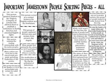 Jamestown People Sort