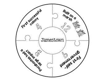 Jamestown Plymouth and Roanoke Puzzles