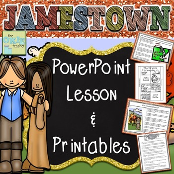 Jamestown PowerPoint Lesson and Printables