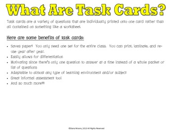 Jamestown SCOOT / Task Cards (VS.3)