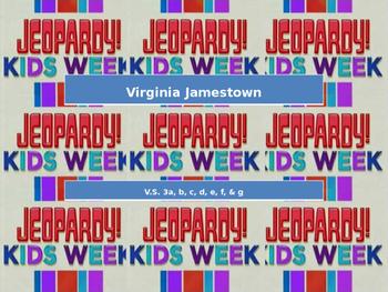 Jamestown SOL Jeopardy Review