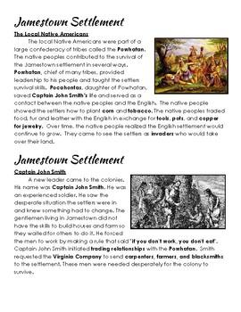 Jamestown Settlement-Cross Curricular Stories