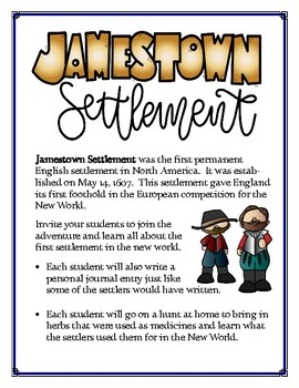 Jamestown Settlement Lapbook and Journal