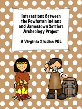 Jamestown Settlers and Powhatan Indians Archaeology Virgin