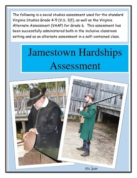 Jamestown Social Studies Assessment: Hardships of the Settlers