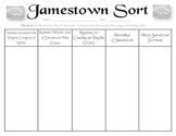 Jamestown Sort (VS.3a, VS.3b, VS.3c, VS.3e, VS.3f)