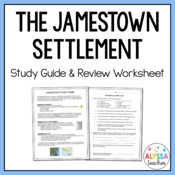 Jamestown Study Guide and Review Worksheet (VS.3)