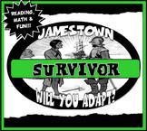 Jamestown Survivor Activity Set with Reading,Graph Lesson & Fun Game