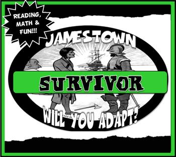 Jamestown Survivor Activity Set with Reading,Graph Lesson