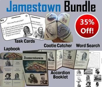 Jamestown Task Cards and Activities Bundle