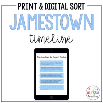 Jamestown Timeline Worksheet Vs3 By Alyssa Teaches Tpt