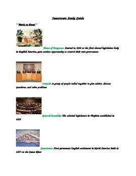 Jamestown Unit Study Guide