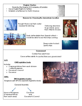 Jamestown (VS.3) Picture Flashcards
