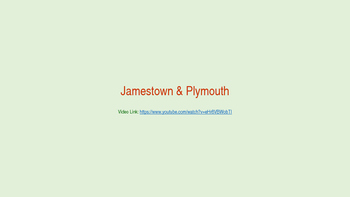 Jamestown VS Plymouth