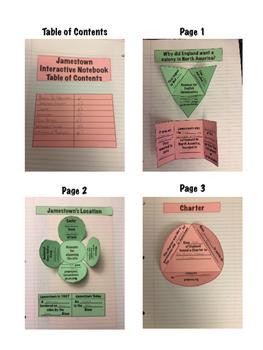 Jamestown Virginia Studies Interactive Notebook