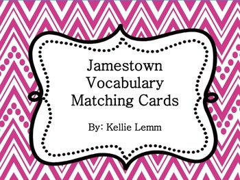 Jamestown Vocabulary Cards