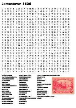 Jamestown Word Search