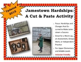 Jamestown a Success: A Cut and Paste Activity