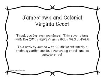 Jamestown and Colonial Virginia Scoot
