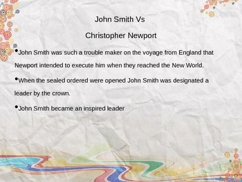 Jamestown and John Smith PowerPoint