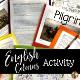 Jamestown and Plymouth Doodle Notes Activity with GOOGLE SLIDES
