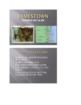 Jamestown and Plymouth Lesson Plan