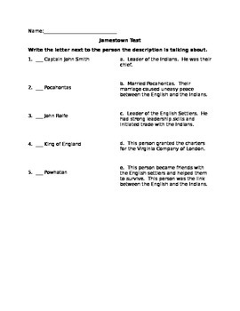 Jamestown test