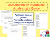 Jamestown or Plymouth: Analyzing a Quote