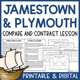 Jamestown and Plymouth - Colony Compare and Contrast Lesson