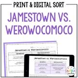 Jamestown vs Werowocomoco Sort (VS.2f) | Print and Digital
