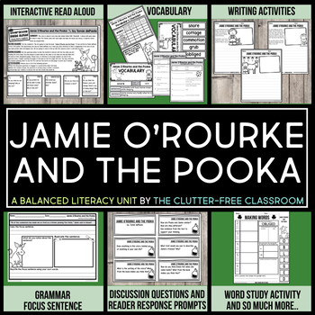 Jamie O'Rourke and the Pooka by Tomie dePaola Book Companion Activities