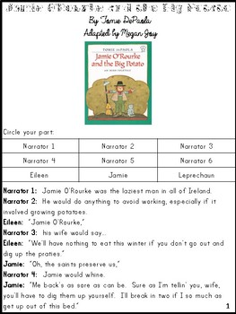 Jamie O'Rourke and the Big Potato Readers' Theater and Literacy Unit