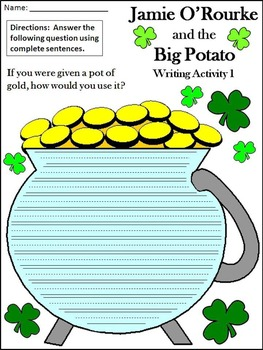 St. Patrick's Day Reading Activities: Jamie O'Rourke and the Big Potato Packet