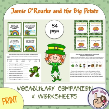 Jamie O'Rourke and the Big Potato (St. Patrick's Day) ~ Vocabulary Companion
