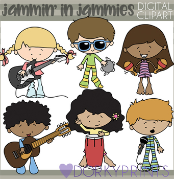 Jammin' in Jammies Clipart