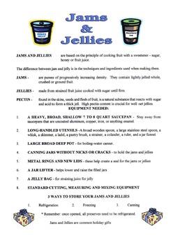 Jams & Jellies Lesson
