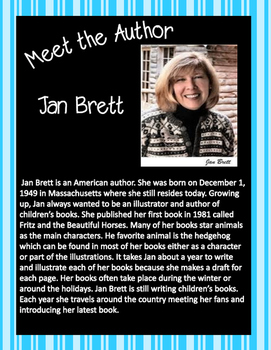 Jan Brett Author Study