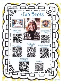 Jan Brett Author Study with QR Codes