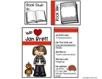 Jan Brett Lap Book Templates
