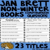 Jan Brett Non-Winter Books Comprehension Questions