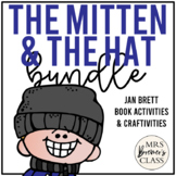 Jan Brett The Mitten and The Hat Book Study Companion Activities Bundle