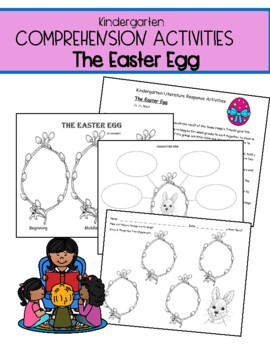 Comprehension Pack for use with Jan Brett:  The Easter Egg: Kindergarten