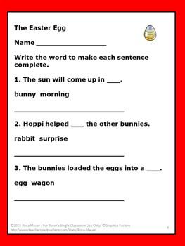 Jan Brett The Easter Egg Literacy Activities