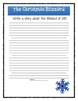 THE CHRISTMAS BLIZZARD by Helen Ketteman - Comprehension & Text Evidence
