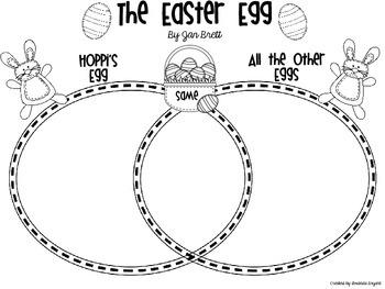 """Jan Brett's, """"The Easter Egg"""" Activites"""