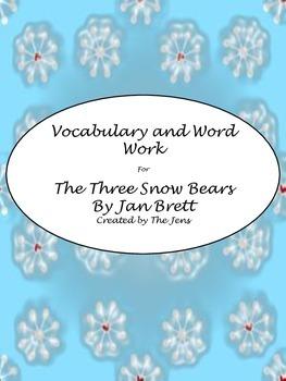 "Jan Brett's ""The Three Snow Bears"" Vocabulary and Word Work"
