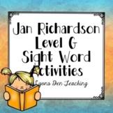 Jan  Richardson Digital Sight Word Activities Level G