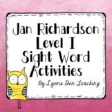 Jan Richardson Digital Sight Word Activities Level I