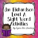 Jan Richardson Level A No Prep Digital Sight Word Activities